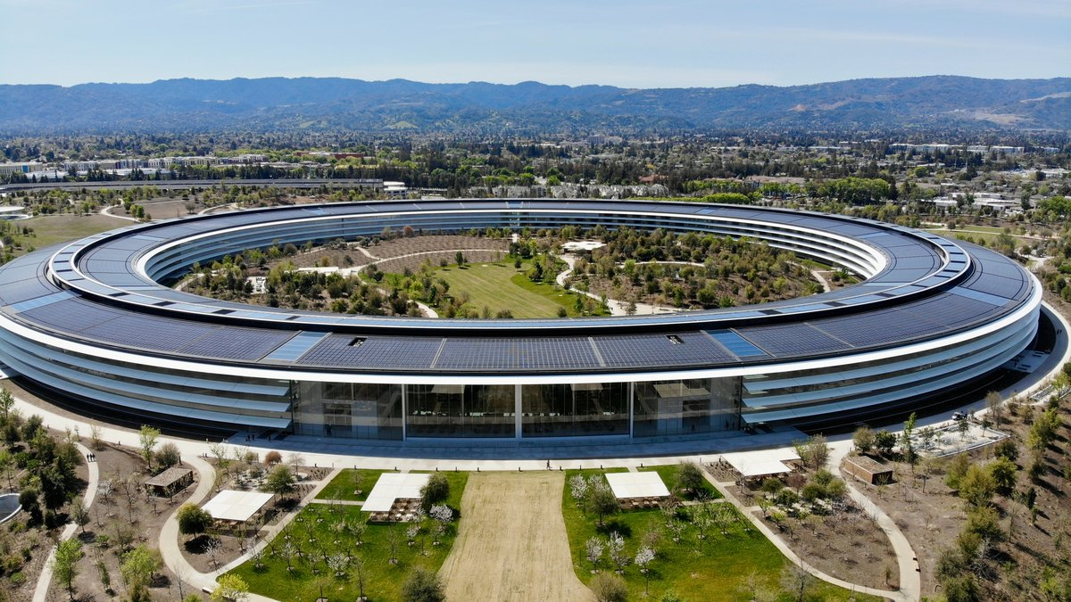 El Apple Park está instalado en Sillicon Valley