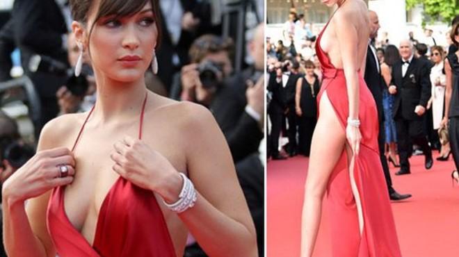 Bella Hadid, la nueva 'mujer de rojo'