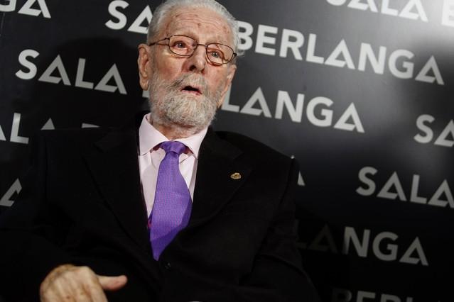 Luis García Berlanga, durant la inauguració d'un cine que porta el seu nom aquest mes de maig.
