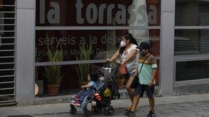 Residencia de la Torrassa en el barrio de l' Hospitalet donde se ha producido un brote de coronavirus