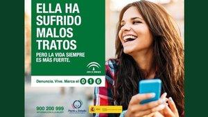 Campaña de la junta de Andalucía para denunciar el maltrato.