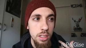 Captura de pantalla del vídeo colgado por Pol Gise sobre el castellano.