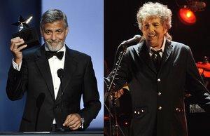 George Clooney y Bob Dylan.