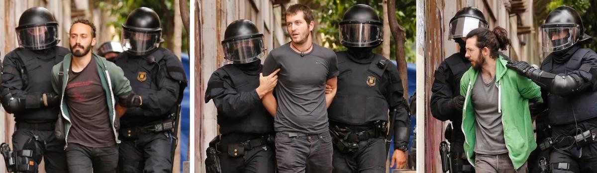 Uno de los detenidos del 'banco expropiado'.