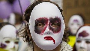 Concentración contra la violencia machista, el pasado 25 de noviembre en València.
