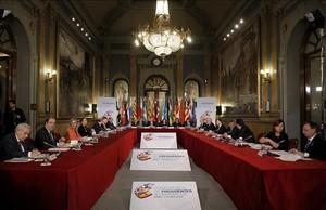 Vista general de la conferencia de presidentes autonómicos celebrada en el Senado.