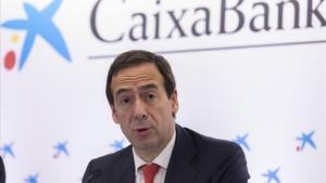 El consejero delegado de CaixaBank, Gonzalo Gortázar, en una imagen de archivo.