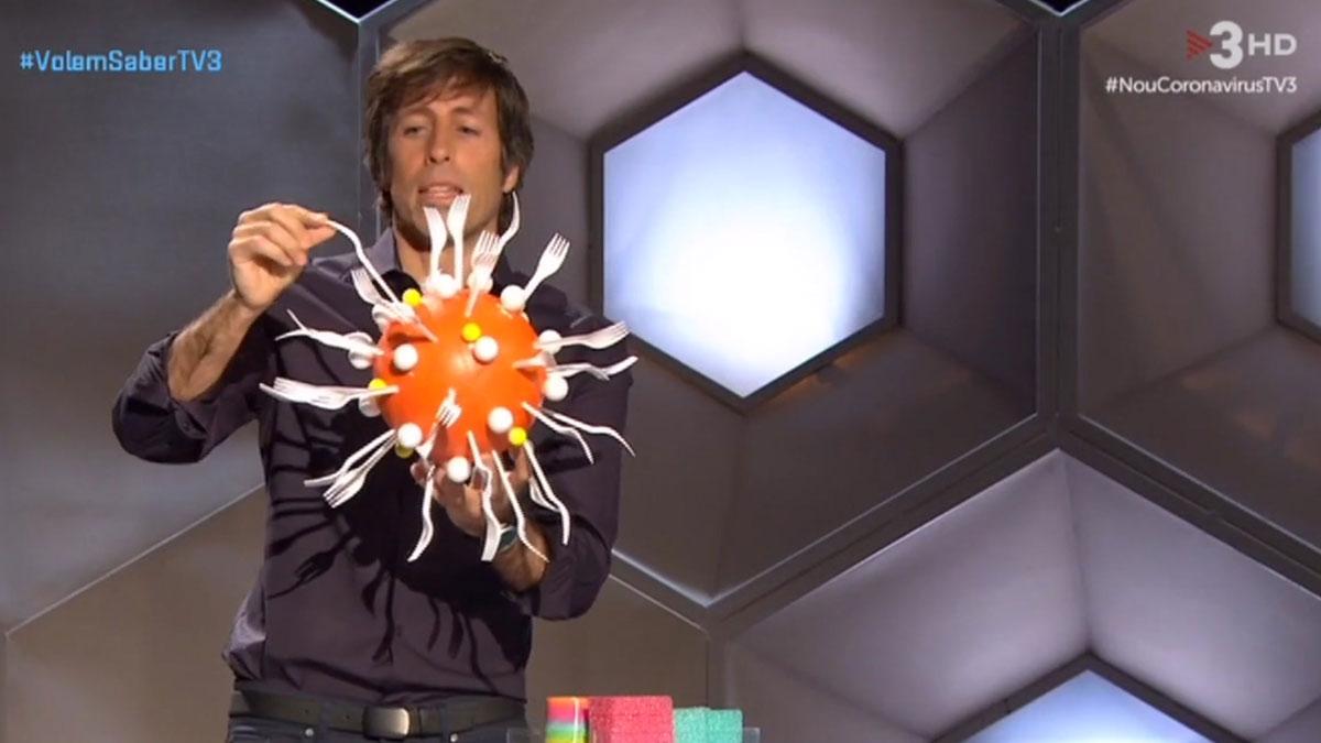 Pere Renom y el coronavirus (TV-3).