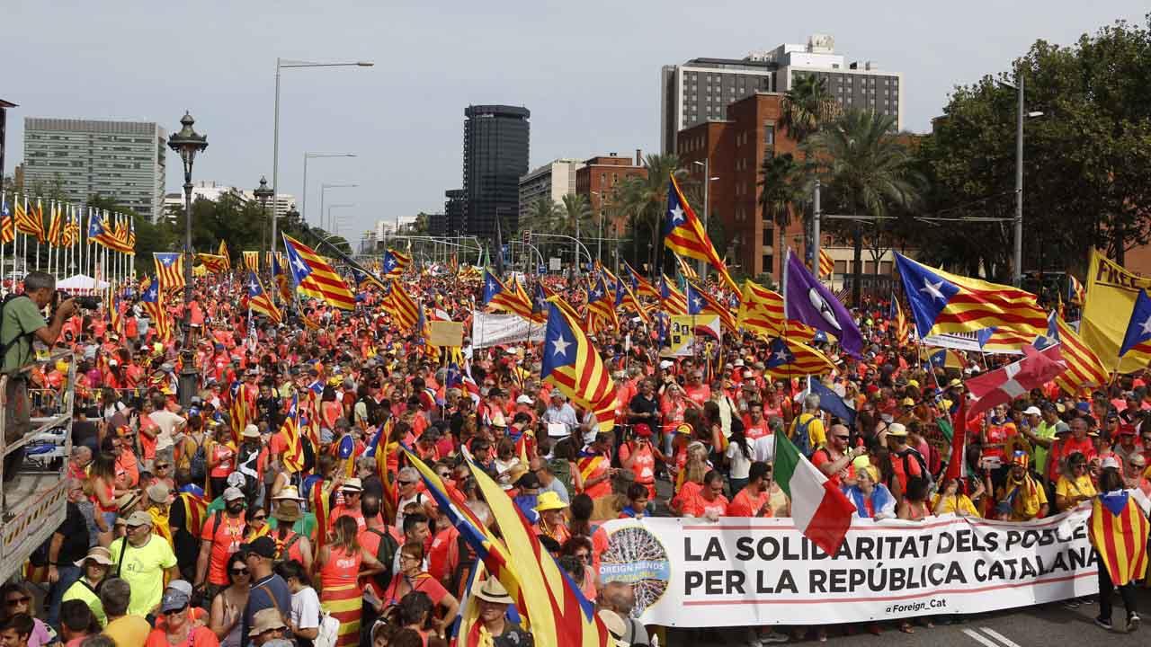 Diada del 11 de septiembre en la Diagonal de Barcelona