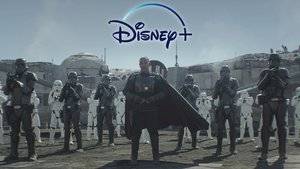 Escena del último capítulo de 'Star Wars: The Mandalorian', uno de los principales estrenos de Disney+.