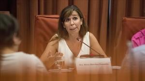 La expresidenta del PPC Alicia Sánchez-Camacho, durante su intervención en el Parlamenten la comisión de investigación de la operación Cataluña.