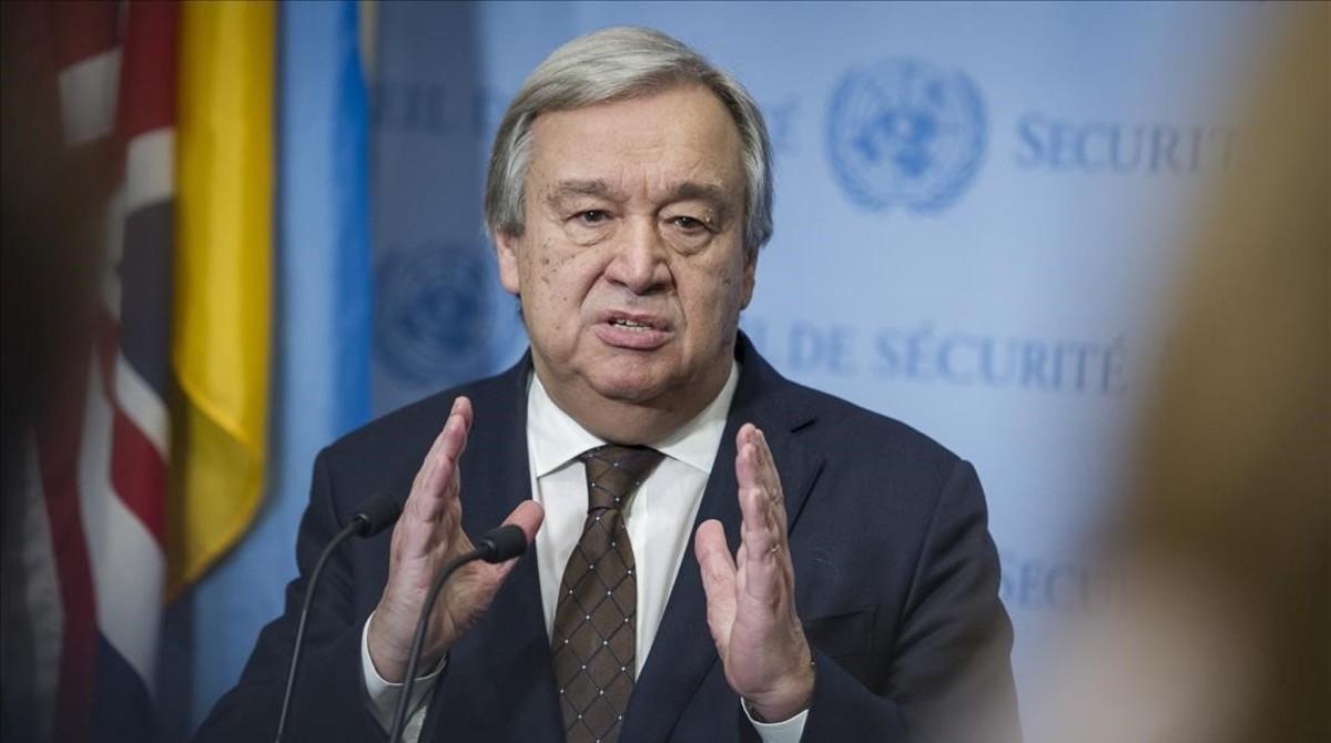 Fotografia cedida por la ONU del secretario general del organismo, Antonio Guterres.