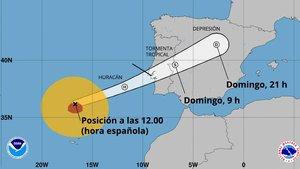 El huracán 'Leslie' provoca fuerte oleaje en Madeira y se dirige hacia Lisboa