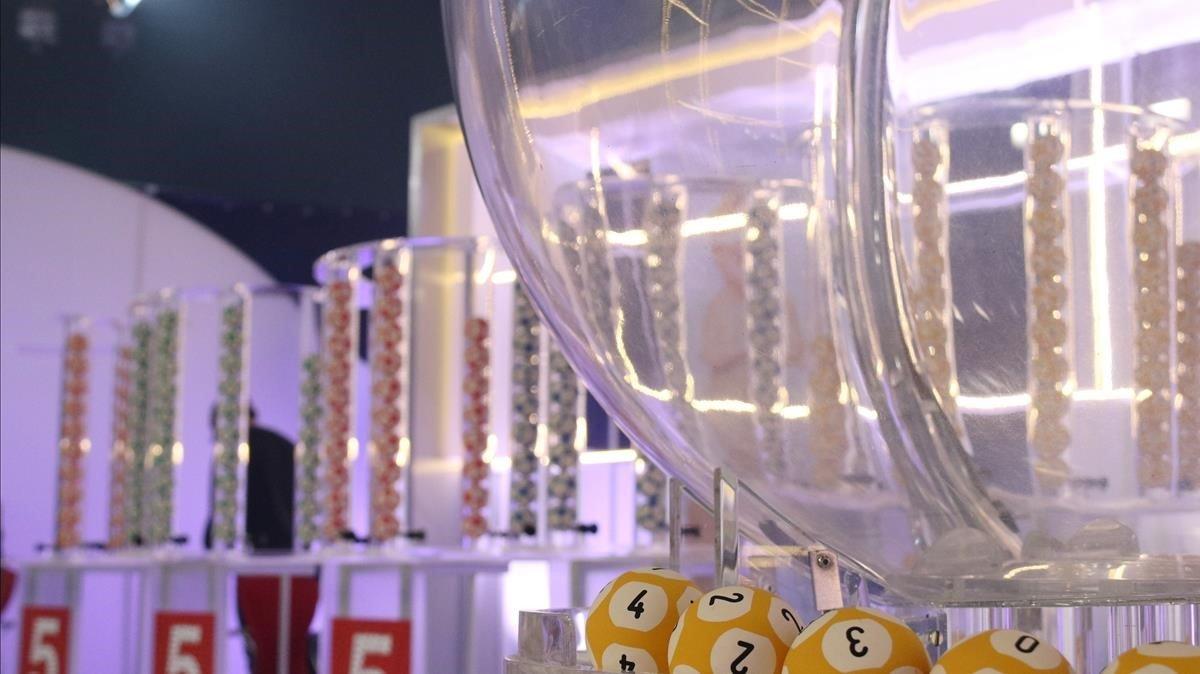 Bombos de la lotería de la Grossa de Cap d'Any 2018.