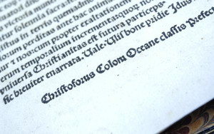 A book published in 1493 of a Latin translation by Leandro di Cosco of the letter by Christopher Columbus describing his discoveries in the Americas, which was stolen from the National Library of Catalonia in Barcelona and sold for approximately $1 million U.S. dollars is shown in this photo provided June 6, 2018. U.S. Immigration and Customs Enforcement (ICE) and the U.S. Department of Justice (DOJ) will return the letter to Spain after an investigation by ICEÿs Homeland Security Investigations (HSI) in coordination with the U.S. Attorneyÿs Office for the District of Delaware led to the recovery of the stolen letter. U.S. Immigration and Customs Enforcement/Handout via REUTERS ATTENTION EDITORS - THIS IMAGE WAS PROVIDED BY A THIRD PARTY.