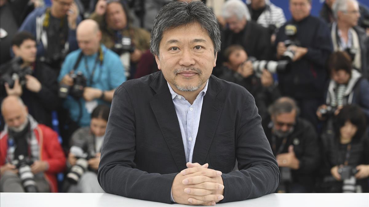 Hirokazu Kore-eda, en la presentación de Un asunto de familia (Shoplifters) en el Festival de Cannes