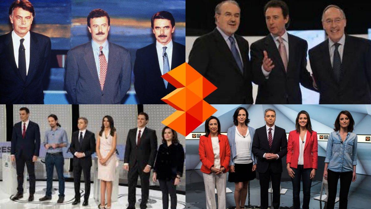 Imágenes de los cuatro históricos debates que ha organizado Atresmedia.