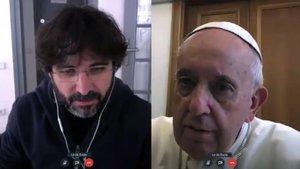 Jordi Évole logra una entrevista por videollamada con el Papa Francisco para hablar del coronavirus