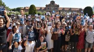 El sector audiovisual catalán, en protesta por la anulación del canon digital, a las puertas del Parlament