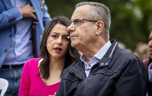 Inés Arrimadas y Celestino Corbacho en L'Hospitalet.