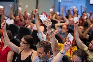Una asamblea de Izquierda Unida Madrid.