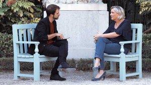 Marine Le Pen durante la entrevista.