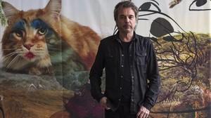 Jean-Michel Jarre, en el Macba, en la presentación de su nuevo disco, 'Electronica 2:The heart of noise'.