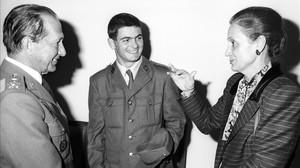 José Luis Carrasco Lanzós, Oriol Pujol y Marta Ferrusola, el 13 de noviembre de 1988.