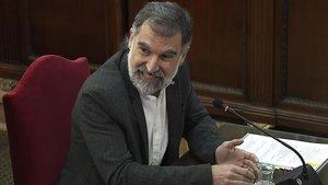 Jordi Cuixart, declarando en el Tribunal Supremo.
