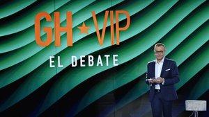 Jordi González en el plató de 'GH VIP'.