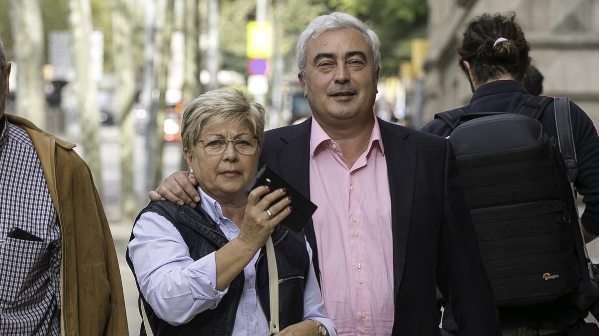 Josep Maria Matas, exresponsable de la Associació Catalana de Municipis (ACM), a su llegada a la Audiencia de Barcelona.