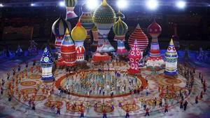 Gala de inauguración de los22º Juegos Olímpicos de Invierno, en el estadio olímpico de Sochi (Rusia), en el 2014.