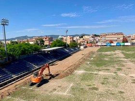 Las obras de remodelación del estadio empezaron el 18 de junio y finalizarán a mediados de agosto