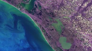 Louisiana (Estados Unidos), imagen hiperespectral.