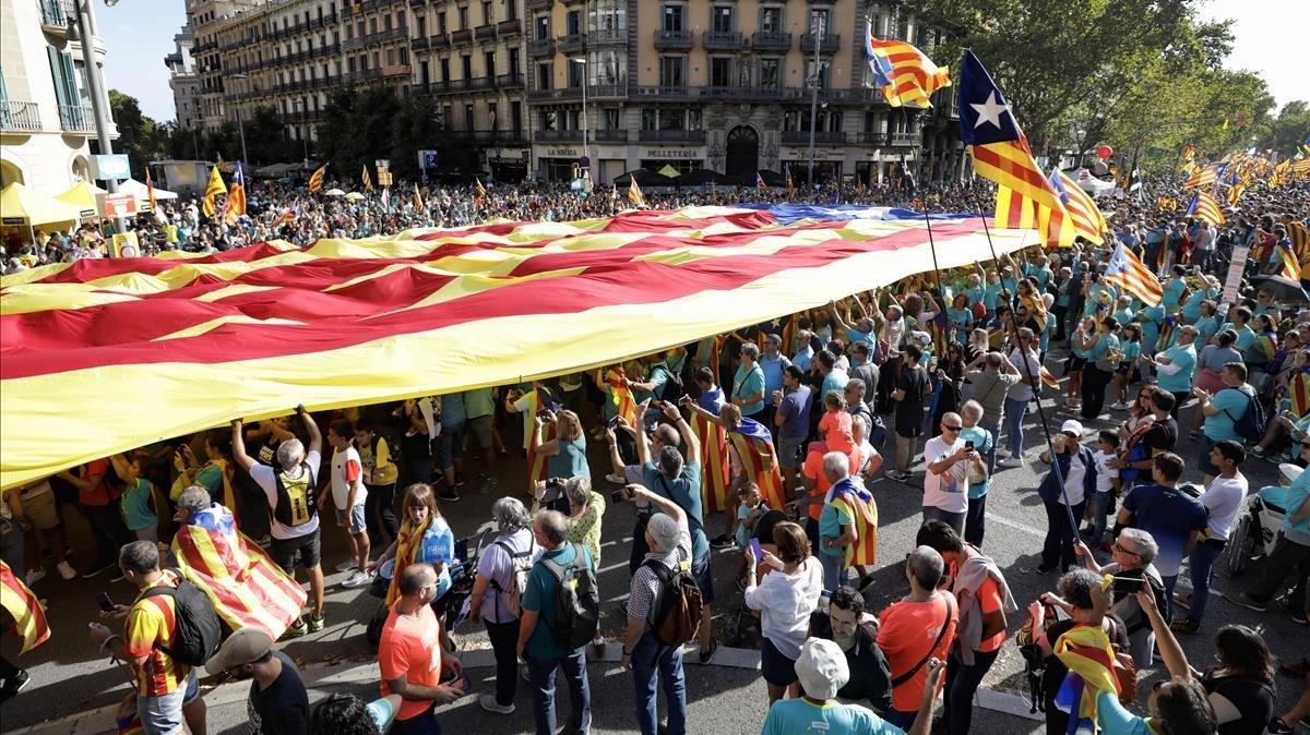 Manifestación de la Diada del 2019.