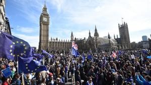 Manifestación europeísta en Londres.