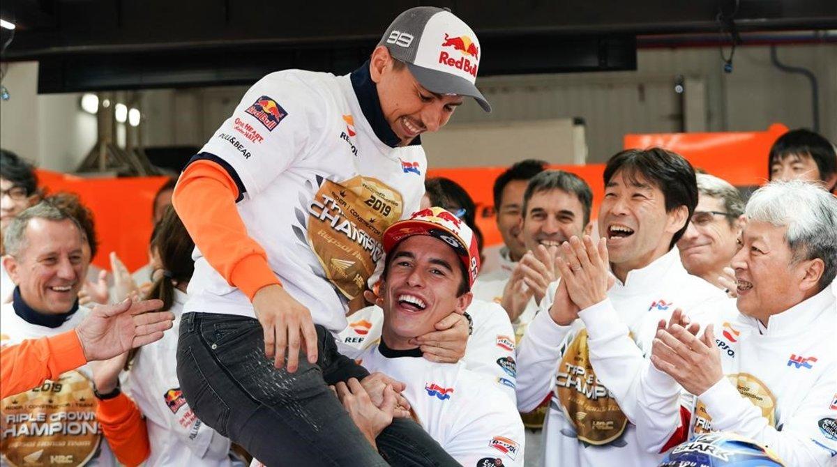 Marc Márquez despidió a Jorge Lorenzo de esta manera el día que concluyó el Mundial-2019.