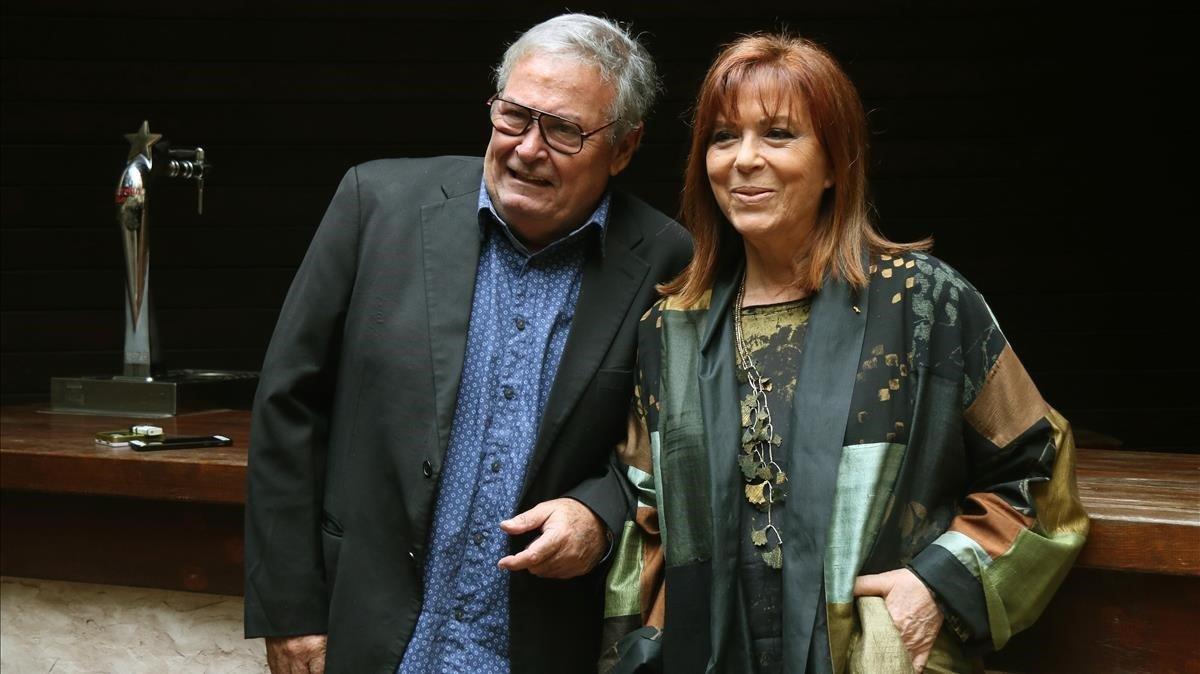 Maria del Mar Bonet y José Maria Vitier, en Barcelona, el miércoles.