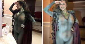El disfraz de diosa Gades de la concejala María Romay.