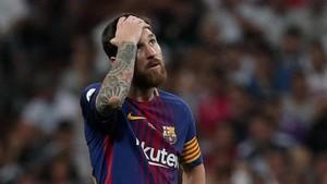 Leo Messi, en el partido de vuelta de la Supercopa de España.