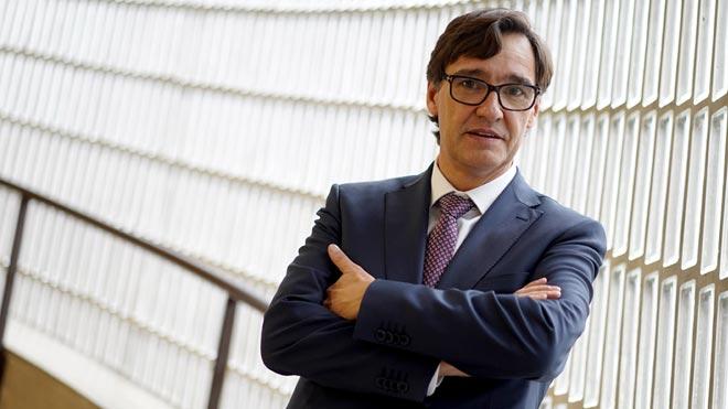 El ministro de Sanidad, Salvador Illa, en entrevista con EL PERIÓDICO