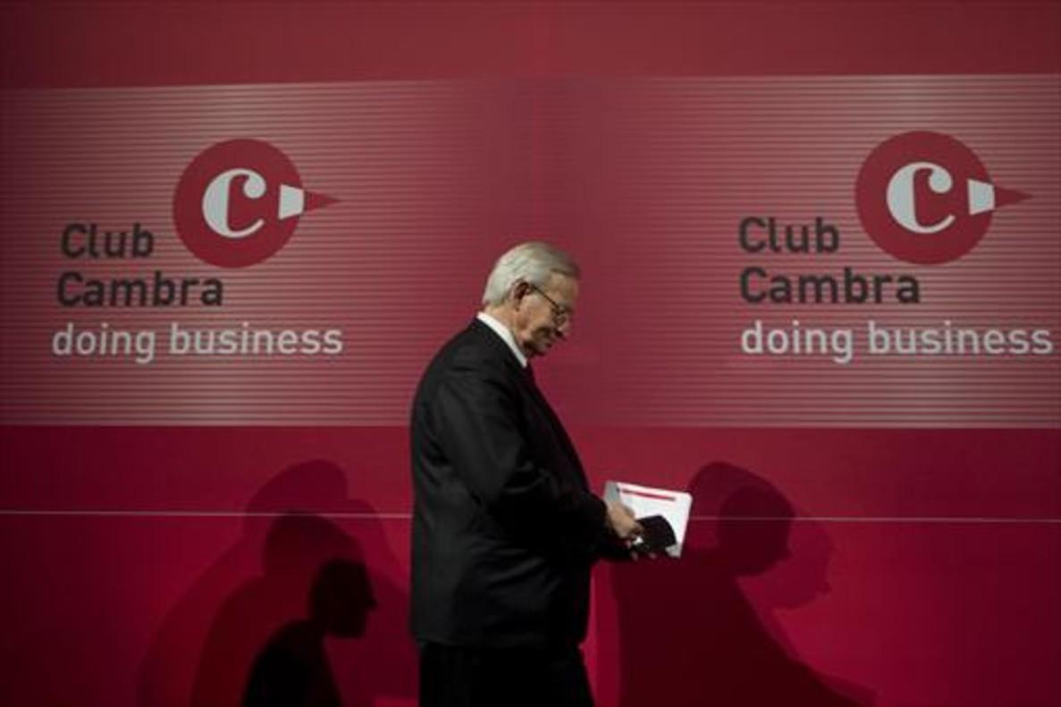 Miquel Valls, presidente de la Cambra de Comerç de Barcelona, en un acto institucional.