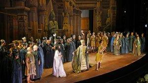 Un momento de la representación de 'Aida' en el Liceu