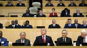 Donald Trump, en la apertura de la asamblea de la ONU.