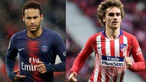 Neymar y Griezmann, dos objetivos del Barça.