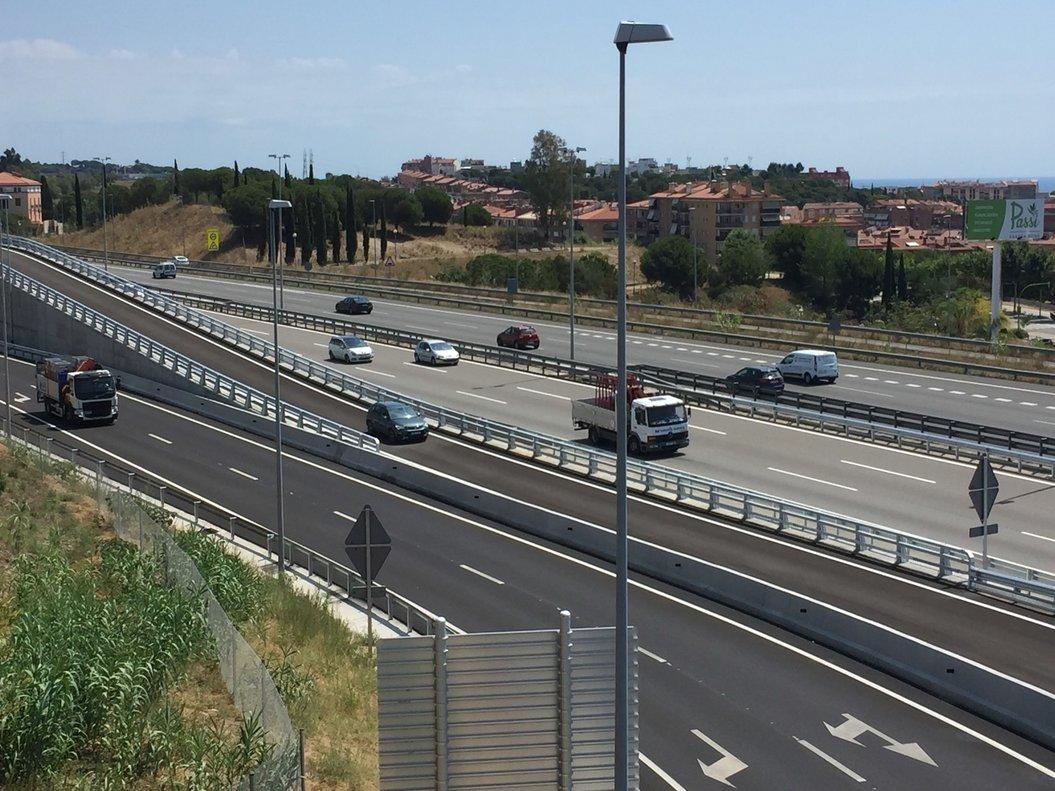 Nuevo vial en el enlace de la C-32 en Mataró Oeste