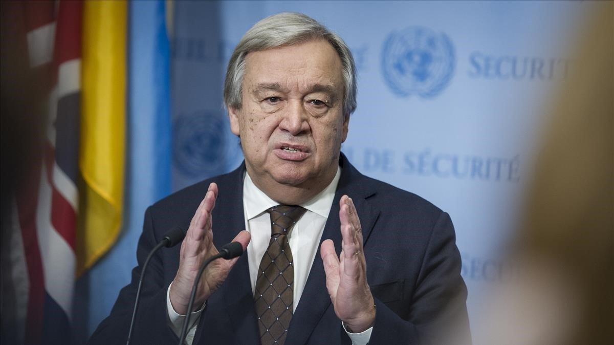 Foto de archivo del actual secretario general de la ONU,Antonio Guterres.