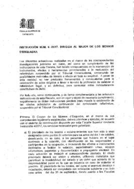 Orden de la fiscalía a los Mossos cara al 1-O