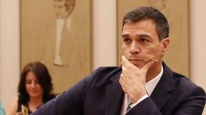 Pedro Sánchez, el pasado 18 de julio en el Congreso.