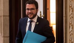 Pere Aragonès, vicepresidente del Govern, en el Parlament.